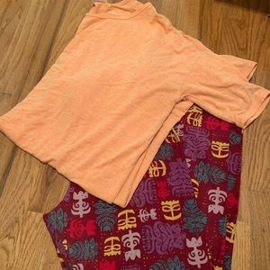 LuLaRoe legging and Shirt Bundle